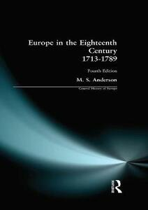 Europe in the Eighteenth Century 1713-1789 - M. S. Anderson - cover