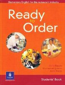English for Tourism: Ready to Order Student Book - Anne Baude,Montserrat Iglesias,Anna Inesta - cover