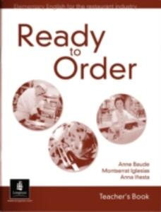 English for Tourism Ready to Order Teacher's Book - Anne Baude - cover