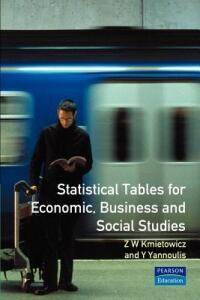 Statistical Tables: For Economic, Business and Social Studies - Z.W. Kmietowicz - cover