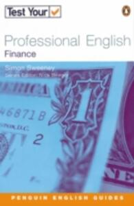 Test Your Professional English NE Finance - Simon Sweeney - cover