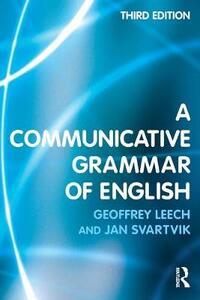 A Communicative Grammar of English - Jan Svartvik - cover