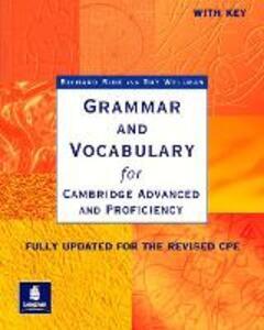 Grammar & Vocabulary CAE & CPE Workbook With Key New Edition - Richard Side,Guy Wellman - cover