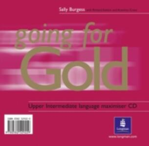 Going for Gold Upper Intermediate Language Maximiser CD 1-2 - Sally Burgess - cover