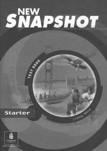 Snapshot Starter Tests New Edition - Lindsay White - cover