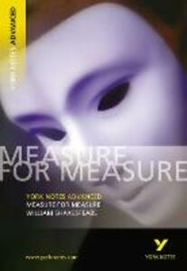 Measure for Measure: York Notes Advanced - William Shakespeare - cover