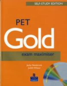 PET Gold Exam Maximiser with Key Self Study and CD Pack - Jacky Newbrook,Judith Wilson - cover