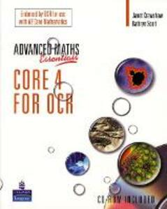 A Level Maths Essentials Core 4 for OCR Book and CD-ROM - Janet Crawshaw,Kathryn Scott - cover