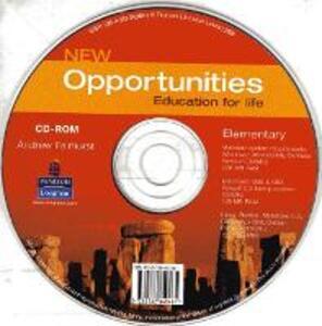 Opportunities Global Elementary CD-ROM New Edition - Andrew Fairhurst - cover