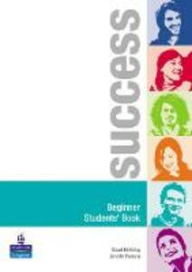 Success Beginner Students' Book - Stuart McKinlay,Jenny Parsons - cover