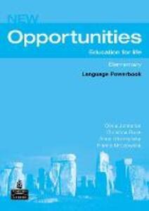 Opportunities Global Elementary Language Powerbook NE - Olivia Johnston,Hanna Mrozowska,Christina Ruse - cover