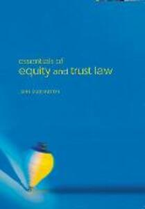 Essentials of Equity and Trusts Law - John Duddington - cover