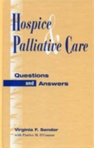 Hospice & Palliative Car E-Bk Eb - Sendor/O Connor - cover