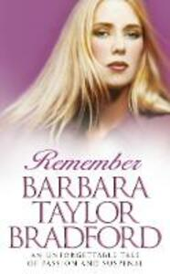 Remember - Barbara Taylor Bradford - cover