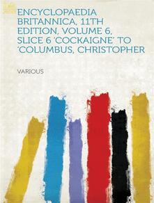 Encyclopaedia Britannica, 11th Edition