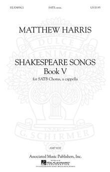 Shakespeare Songs, Book 5 SATB a Cappella -  Matthew Harris - copertina