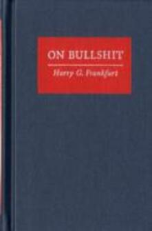 On Bullshit - Harry G. Frankfurt - cover