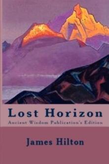 Lost horizon - James Hilton - copertina