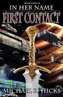 In her name first contact - Michael R. Hicks - copertina