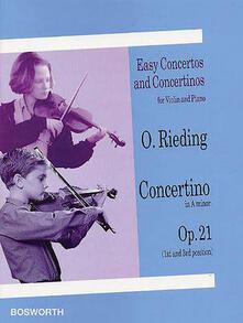 Concertino in La minor op. 21 - Oskar Rieding - copertina