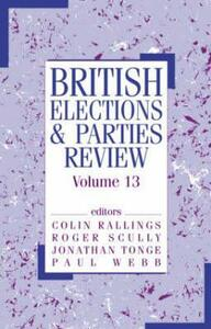 British Elections & Parties Review: Volume 13 - cover