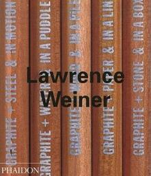 Laurence Weiner - copertina