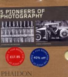 Five pioneers of photography: James Vanderzee-Eadweard Muybridge-Martin Chambi-Daido Moriyama-Mathew Brady. Ediz. illustrata - copertina