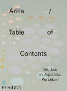 Arita table of contents studies in japanese porcelain - copertina