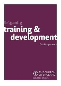 Safeguarding Training and Development: Practice Guidance - cover