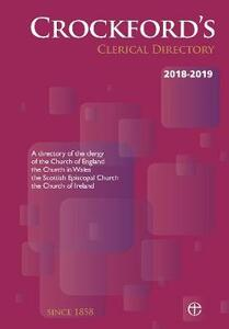 Crockford's Clerical Directory 2018-2019 (paperback) - cover