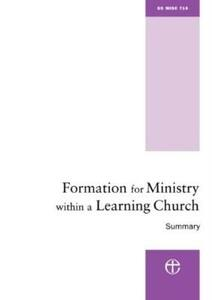 Formation for Ministry within a Learning Church - Summary: The Hind Report - Ministry Division - cover