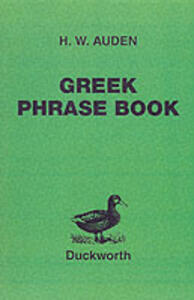 Greek Phrase Book - H.W. Auden - cover