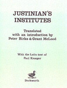 Institutes - Justinian I, Emperor of the East - cover