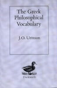 The Greek Philosophical Vocabulary - J. O. Urmson - cover