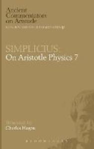 "On Aristotle ""Physics 7"" - of Cilicia Simplicius - cover"