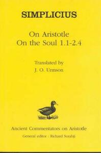 """On Aristotle """"On the Soul 1 and 2, 1-4"""" - of Cilicia Simplicius - cover"""
