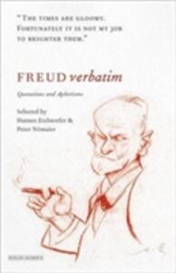 Freud Verbatim: Quotations and Aphorisms - Hannes Etzlosorfer - cover