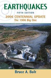 Earthquake Centennial Edition - Bruce A. Bolt - cover