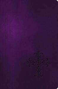 NKJV, End-of-Verse Reference Bible, Giant Print, Personal Size, Leathersoft, Purple, Red Letter Edition - Thomas Nelson - cover