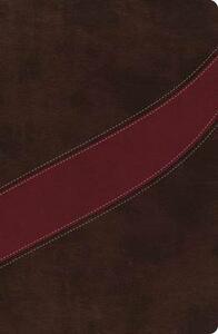 NASB, The MacArthur Study Bible, Leathersoft, Brown/Red - cover