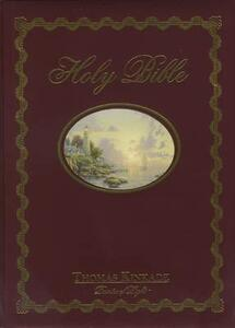 NKJV, Lighting the Way Home Family Bible, Hardcover, Red Letter Edition - Thomas Kinkade - cover