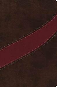 NASB, The MacArthur Study Bible, Leathersoft, Brown/Red, Indexed - cover