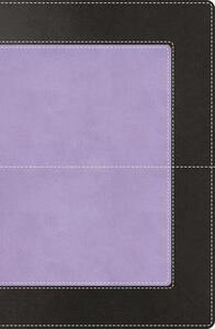 NKJV, Reference Bible, Super Giant Print, Leathersoft, Purple/Black, Indexed, Red Letter Edition - Thomas Nelson - cover