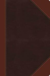 NKJV, Reference Bible, Giant Print, Leathersoft, Brown, Red Letter Edition - Thomas Nelson - cover