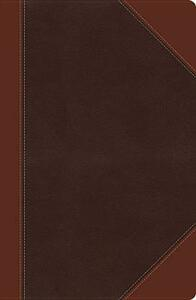 NKJV, Ultraslim Reference Bible, Large Print, Leathersoft, Brown, Red Letter Edition - Thomas Nelson - cover