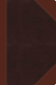 NKJV, Ultraslim Reference Bible, Large Print, Leathersoft, Brown, Indexed, Red Letter Edition - Thomas Nelson - cover