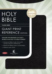 Giant Print Center-Column Reference Bible-NKJV - Thomas Nelson - cover