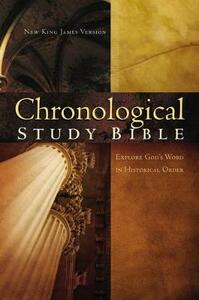 NKJV, The Chronological Study Bible, Imitation Leather, Brown/Navy - cover