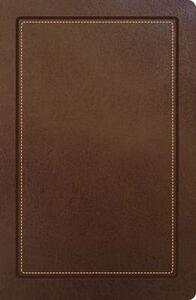 NKJV, Ultraslim Reference Bible, Imitation Leather, Brown, Indexed, Red Letter Edition - Thomas Nelson - cover