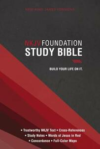 NKJV, Foundation Study Bible, Hardcover, Red Letter Edition - cover